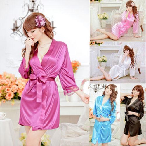 Халат удивительные лето весна женщины сексуальное женское белье пижамы ночной рубашке банные халаты халат кимоно