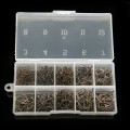 500Pcs box Size 3 12 High Carbon Steel Fishhooks Circle Hooks Fishing Hook Barbed Fishhook Set