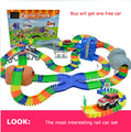 Diecast DIY Children s large toy Roller Coaster track Electronics Toy Car Parking lot Assemble Railway
