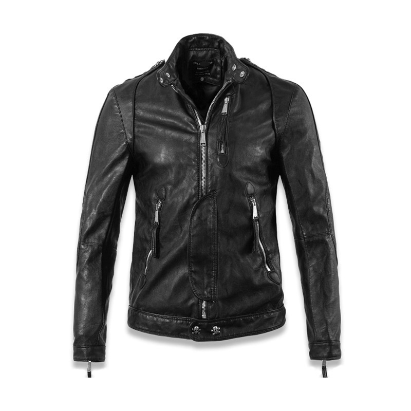 best-2015-Black-Mens-Leather-Jackets-And-Coats-For-Winter ...