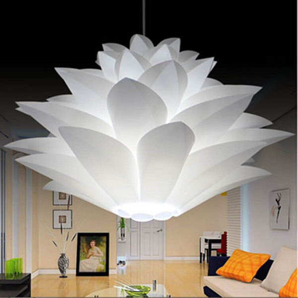 ikea lilie blumen lampe pendelleuchte glanz material pvc lotus form diy lampenschirm. Black Bedroom Furniture Sets. Home Design Ideas