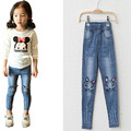 New Spring Girls Jeans Kids Clothes Children Clothing Cartoon Girl Pants Full Length Trousers