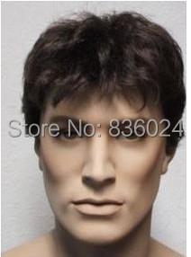 Новый короткие черный здоровым мода мужчины парики волос