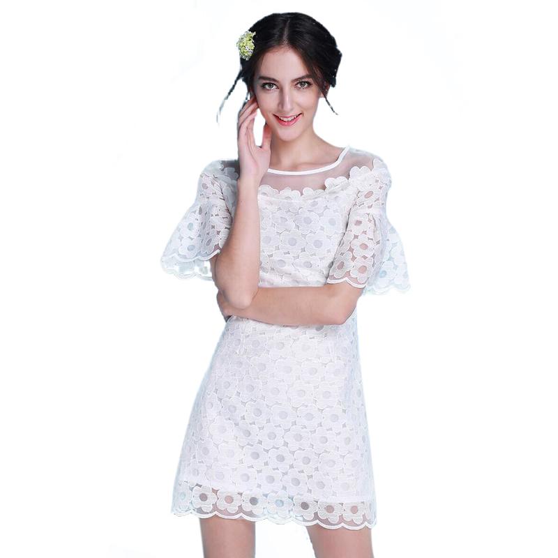 Aliexpress Com Buy Elegant Flare Sleeve Wedding Dress: Aliexpress.com : Buy Good Quality Women Embroidered Floral