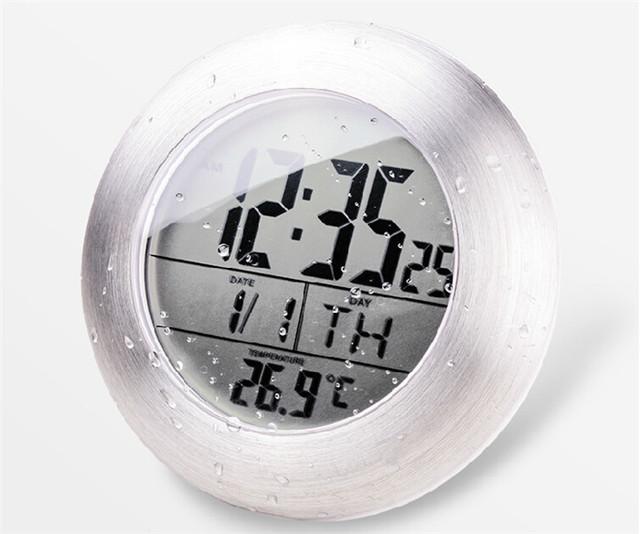 douche tanche silencieux horloges num riques mur cuisine salle de bain ventouse horloge montre. Black Bedroom Furniture Sets. Home Design Ideas