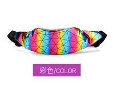Новый бренд, Женская поясная сумка, поясная сумка, сумка с блестками, ремень на бедрах, грудь, сумка через плечо, кошелек с блестками, поясная ...(Китай)