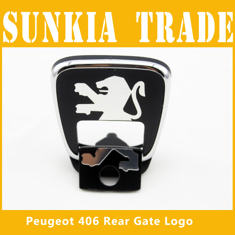 Бесплатная доставка бут логотип для PEUGEOT 406 задние ворота удача логотип
