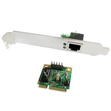 mini PCIe Gigabit Ethernet Network Card mini PCI express to RJ45 Port adapter 10/100/1000 Base-T Network LAN Controller