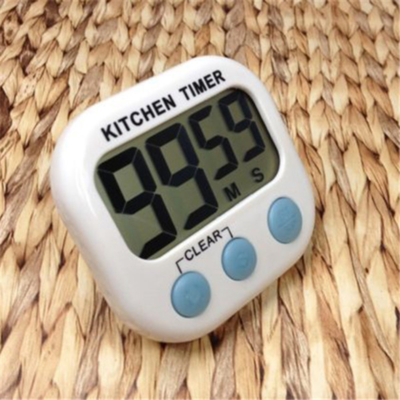 New Large LCD Kitchen Cooking Timer Count Down Up Clock Loud Alarm Magnetic