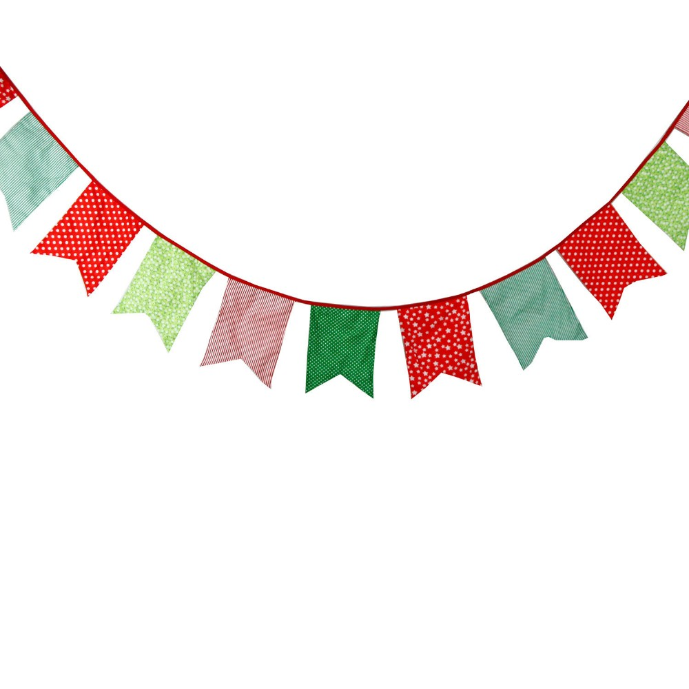 Wholesale- Popular Korean Bunting 12 Flags Party Bunting