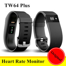 2016 Fashion Heart Rate Monitor Smart Band Inteligente Pulse New Smartband Sport Wristband OLED Display Smart Bracelet TW64 Plus