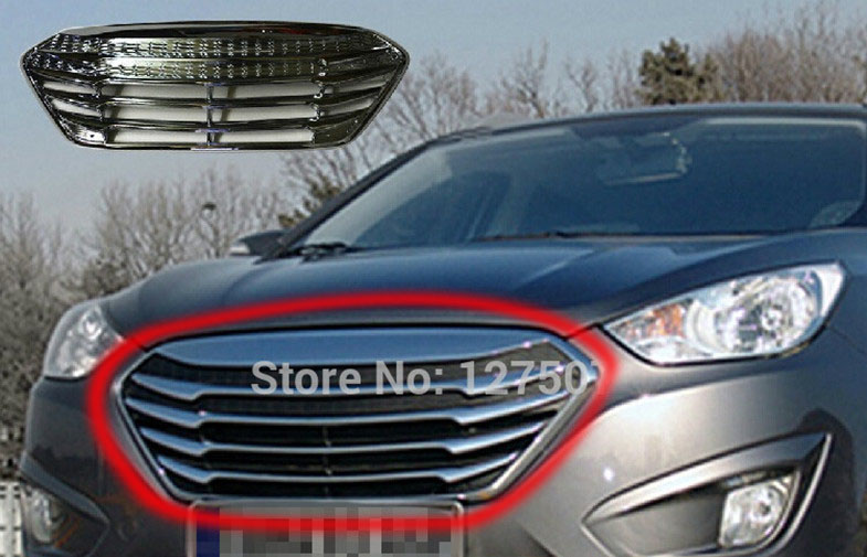 modifizierte k hlergrill f r hyundai ix35 tucson 2009 2010 2011 2012 vor verchromten auto. Black Bedroom Furniture Sets. Home Design Ideas