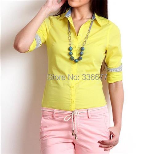 Para Mujer De Color Amarillo Camisetas - Compra lotes