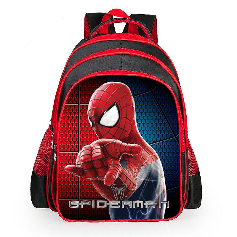 Spiderman cartoon bags of pupils schoolbag shoulders the burden of the children kids school boys girls kids backpack satchel