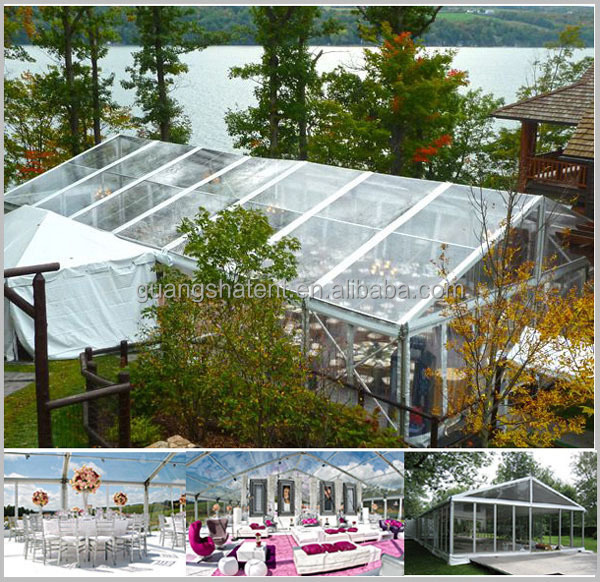 Plastic Marquee Clear Roof Wedding Tent Canopy
