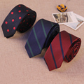 2016 New Brand Business Wedding Grooms Paisley Striped Anchor Necktie for Suit Shirt 5 cm Skinny