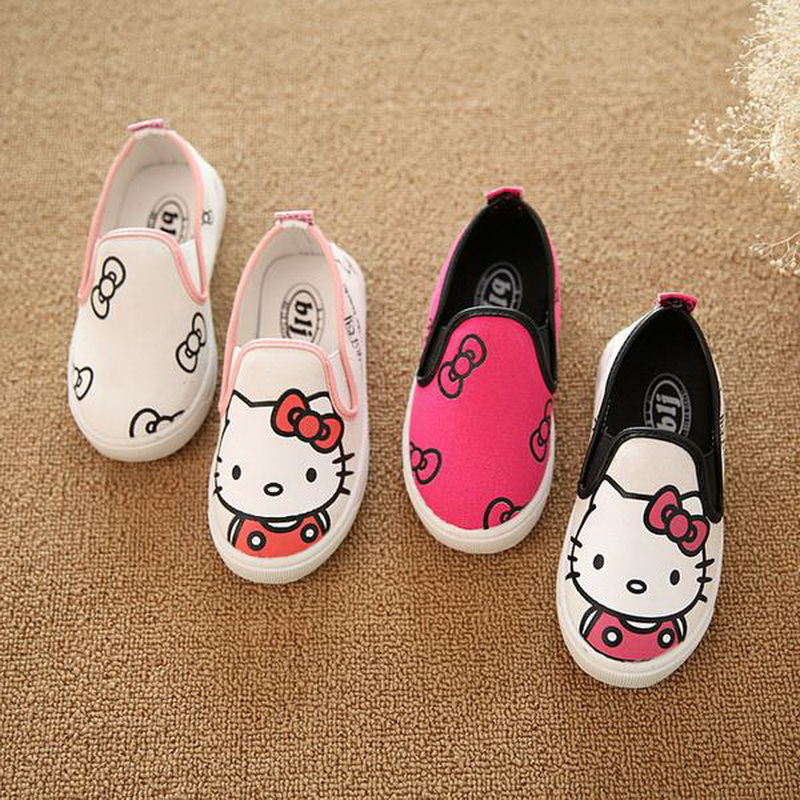 2016 New Kids cartoon anime figure despicable me 4 minion shoes boys girls hand painted canvas
