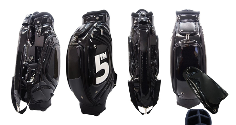 Custom Made Tour Staff Golf Bag Colorful Leather Golf ...