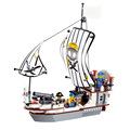 DIY PIRATES Pirate ship JS HOLLANDER Enlighten 3D Brick Educational Block Toys Children scale models playmobil