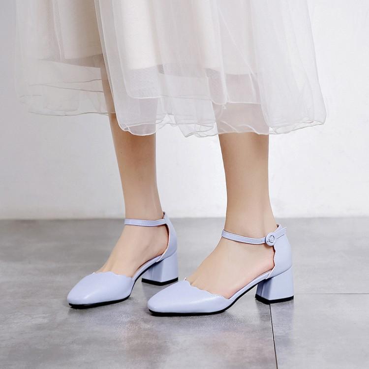 Большие размеры 11, 12, 13, босоножки на высоком каблуке Женская обувь женские летние полусандалии на толстом каблуке прозрачные сандалии с отк...(Китай)