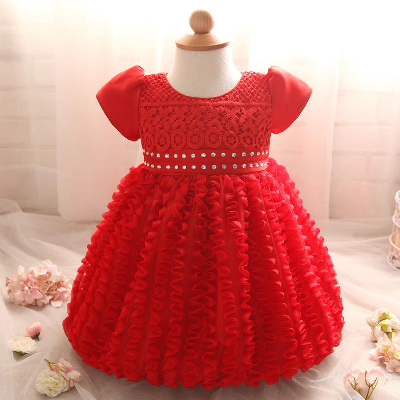 Baptism Gift Girl Christmas Ornament For Baby Girl Baptism: Red Christmas Tutu Dress For Toddler Girl Baby Christening