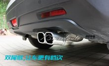 Free Shipping Car Styling Stainless Steel Exhaust Muffler Tip Pipe For Suzuki S-Cross 2014 SX4