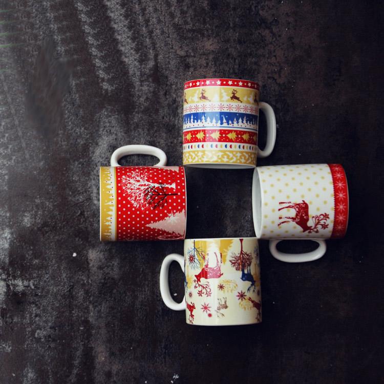 nette weihnachten elch becher mode klassischen kaffeetasse. Black Bedroom Furniture Sets. Home Design Ideas