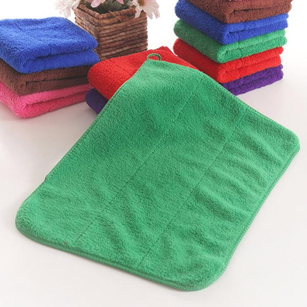 Double Face Technology Towel: Microfiber Fabric Coral Velvet Cloth Towel Scouring Pad 30