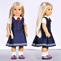 New AMERICAN PRINCESS Doll Clothes doll accessories fashion British style dress for 18 inch Girl doll