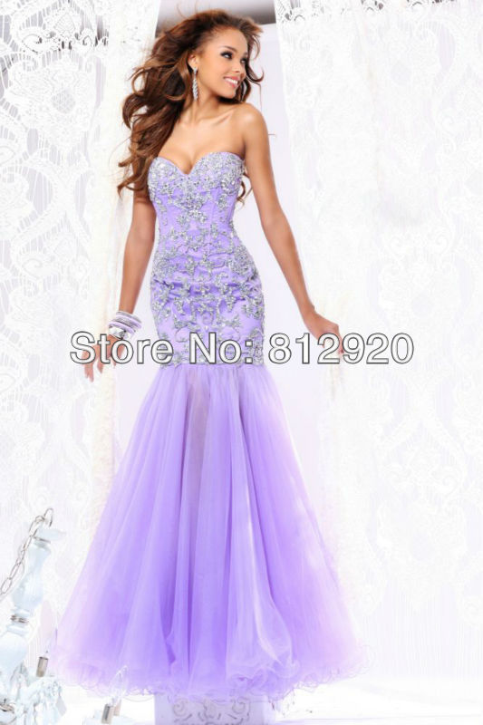 Aquellacanciondelos80 Light Purple Mermaid Prom Dresses Images