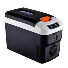 Мини-холодильник для дома и автомобиля, 12 В, 45 Вт, 10 л, холодный теплый портативный холодильник для кемпинга двойного назначения(Китай)
