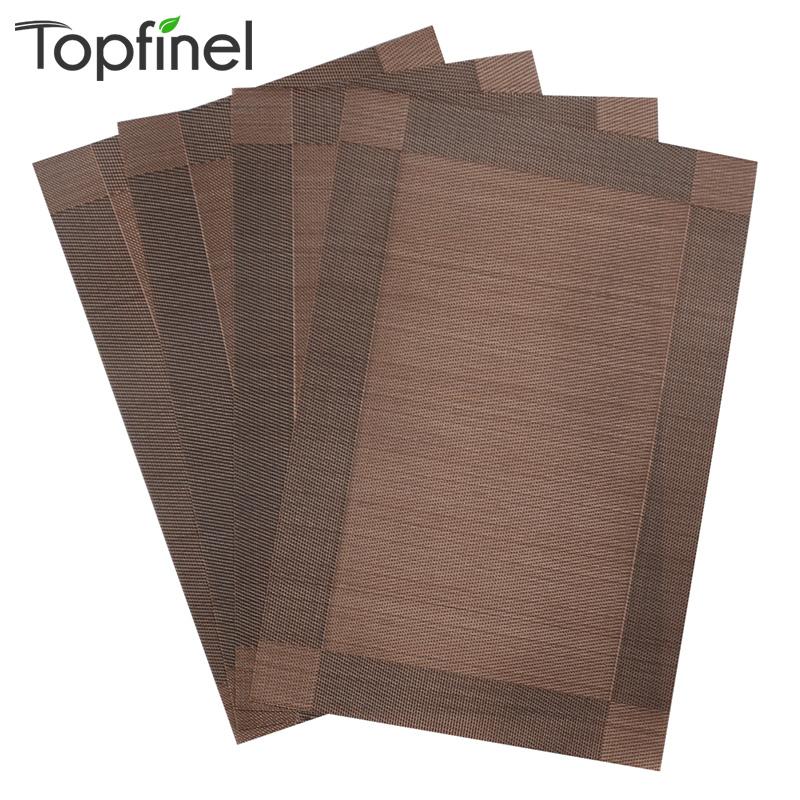 Top Finel 4pcs Lot Pvc Decorative Vinyl Placemats For