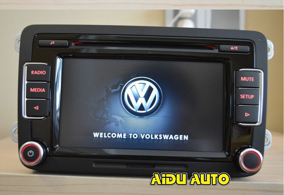 vw car radio rcd510 new original radio with code for vw. Black Bedroom Furniture Sets. Home Design Ideas