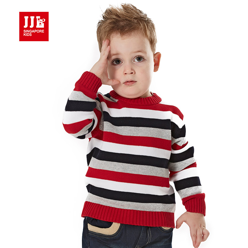 baby boy mixed color pullover striped causal kids knitted. Black Bedroom Furniture Sets. Home Design Ideas