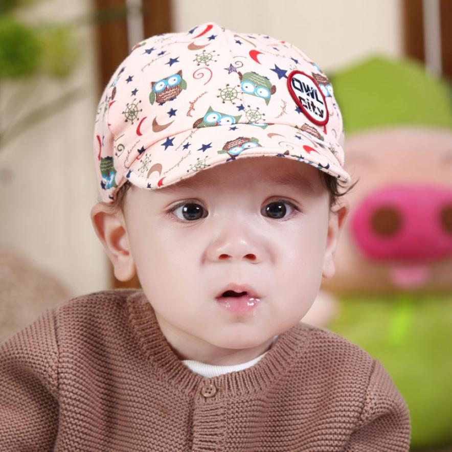 Cute Baby Boy Toddler Infant Hat Owl Baseball Beret Cap d44eeafd977