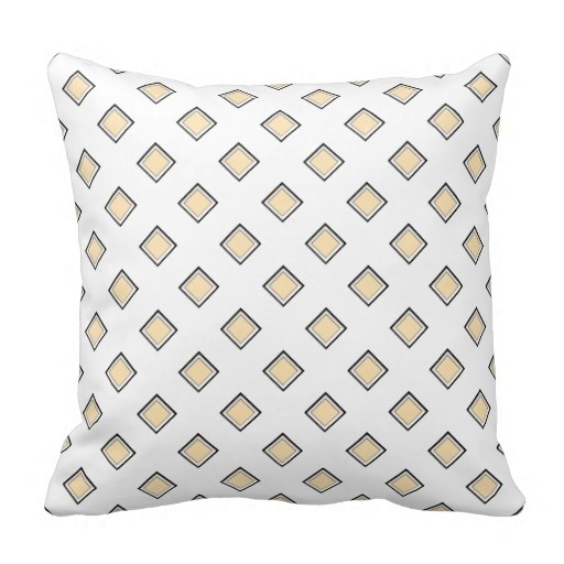 Sunny Peach Diamond Pattern Classy Pillow Case (Size: 20