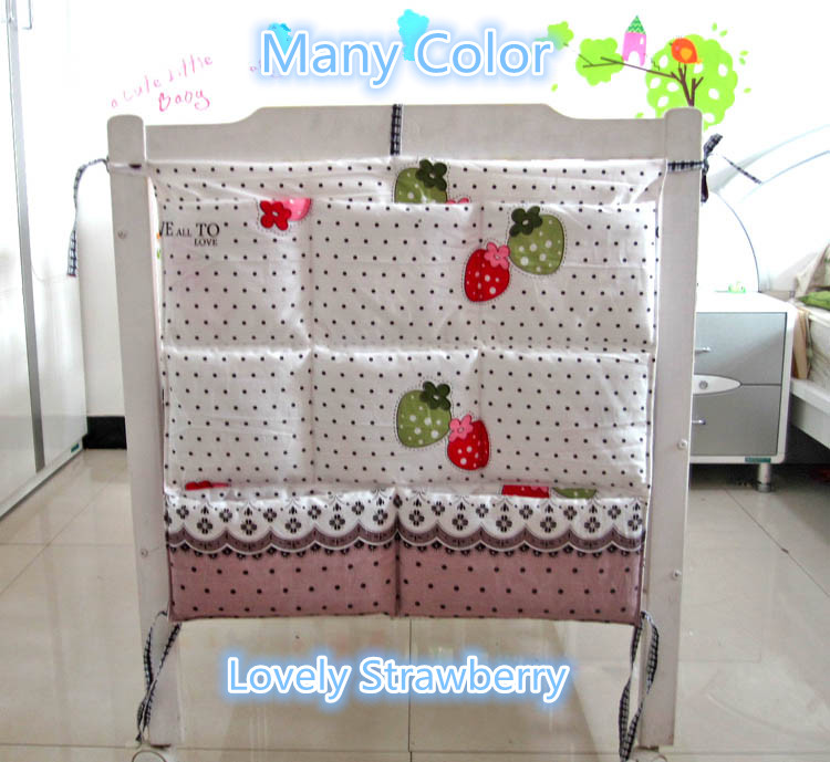Promotion Kitty Mickey 62 52cm Baby Accessories Organizer Portable Storage Bags For Baby Bed baby bedding