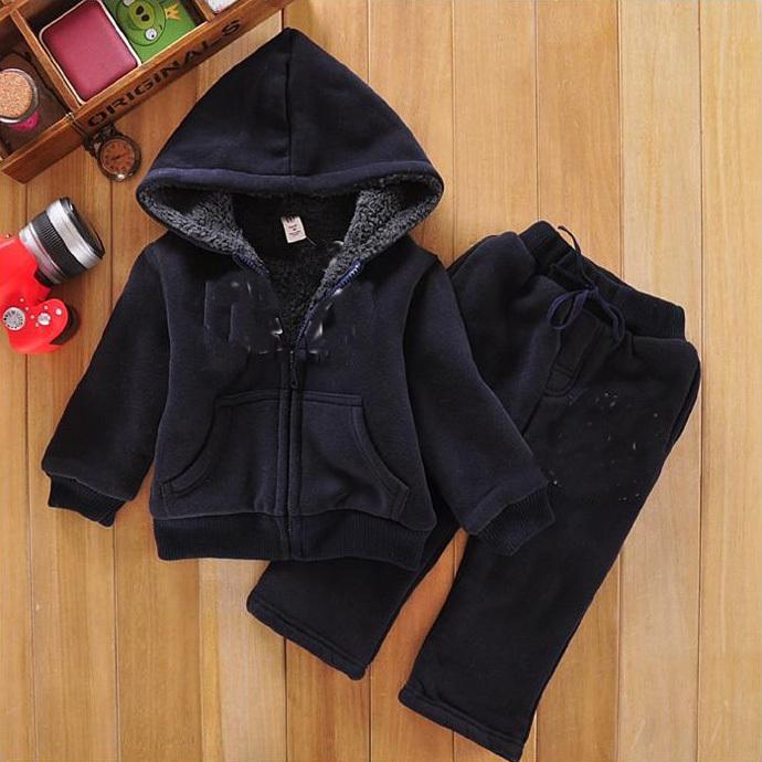 Baby boy suit new 2015 fashion children clothes 100% cotton top + pant Dark blue cute designer party roupas infantis menina nino