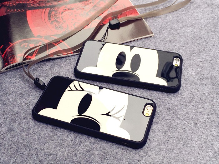 Couple Cell Phone Iphone X Case Mickey Mouse Minnie Cover Soft Silicon Cases For Iphone 6S 7 8 Plus Coque