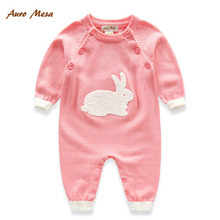 New 2016 Infant baby wool Knit Rompers Soft baby Sweater one piece clothing Jumpsuits