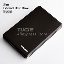 """Best Sellers Slim HDD 2.5"""" USB2.0 External Hard Drive 80G Desktop and Laptop Portable Disk Plug and Play"""