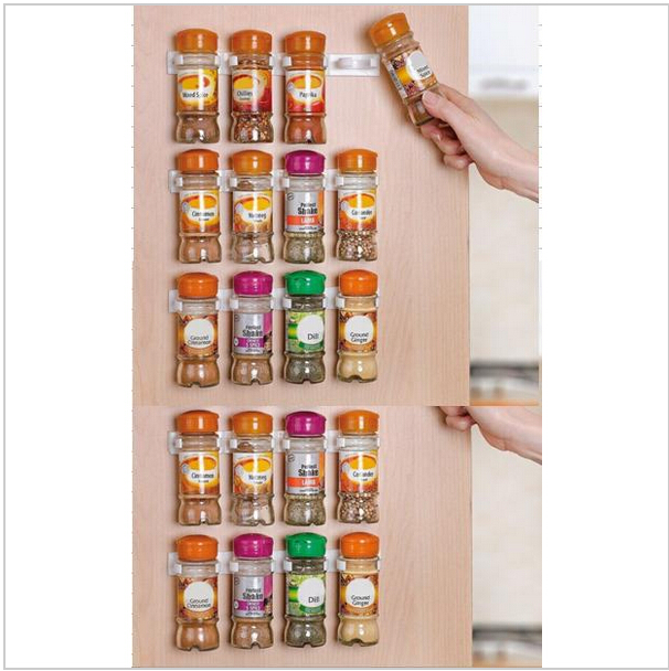 spice clips organizer rack 20 cabinet door spice clips store n spice spice gripper clip strips. Black Bedroom Furniture Sets. Home Design Ideas