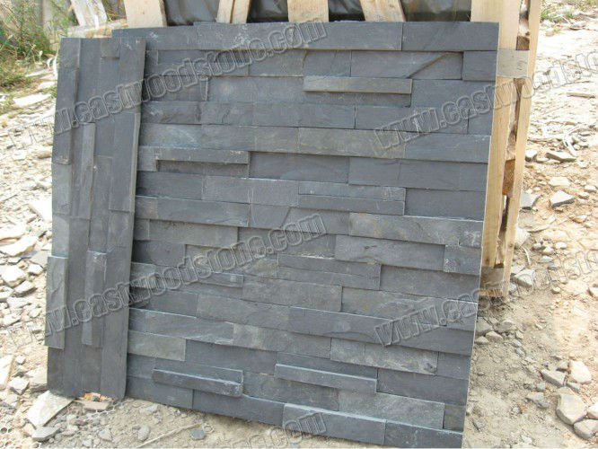 plaquette de parement mural en ardoise noire ardoise id du produit 500000118000. Black Bedroom Furniture Sets. Home Design Ideas