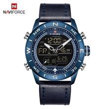 NAVIFORCE мужские часы, люксовый бренд, Мужские Аналоговые Цифровые спортивные часы, модные мужские армейские наручные часы, водонепроницаемые ...(China)