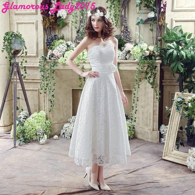 Designer Tea Length Wedding Dresses Aliexpress Com Buy 03e8e40fc674