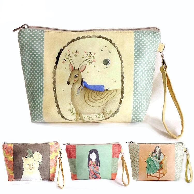 64cba1c34f 2016 Women Bags Fashion Cosmetic Bag Canvas 8 Colors Zipper Women Makeup  Bags Pouch Day Clutch Travel Organizer Storage Bag H13