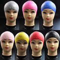 Swimming Cap Silicone Hat Silicone WaterProof Swimming Adults Bath Shower Hat Water Drop Patten