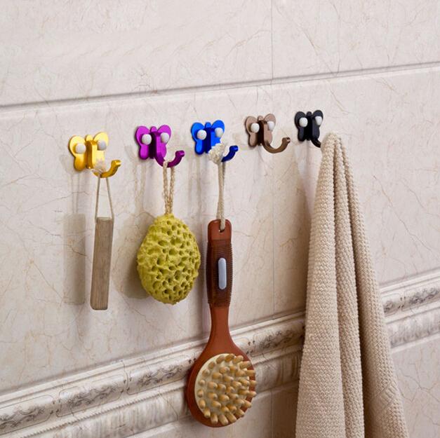 5 Pieces 1 Lot Wall Hanger Hook Clothes Towel Coat Robe Kitchen Bathroom
