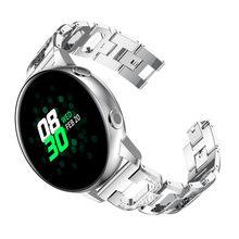 Ремешок для часов Samsung galaxy Watch Active, 20 мм, 40 мм, 42 мм, Gear S2, сменный Браслет из нержавеющей стали с кристаллами для женщин(China)