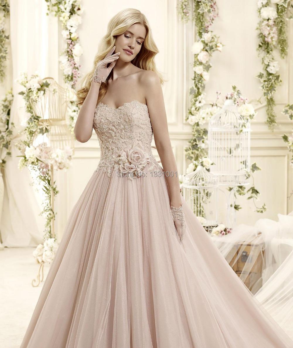 Pink Wedding Gown: Aliexpress.com : Buy Vestido Para Casamento 2016 Blush